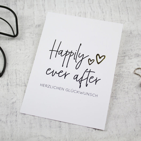 Postkarte | Happily ever after